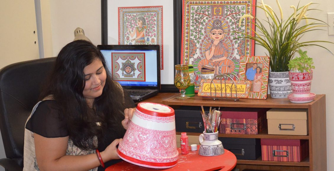 Indian girl Nupur Nishith spreading her culture globally through her Madhubani Paintings