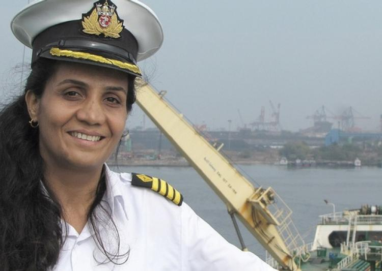 India's First Indian female Merchant Navy captain Radhika Menon received  exceptional bravery award