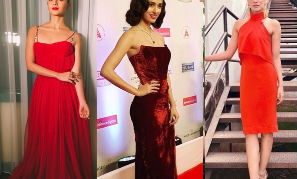 Bollywood actresses in Red