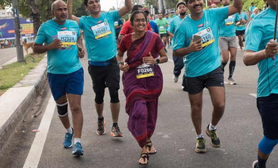 Meet the Lady who Ran A Marathon In Sari To Promote Handloom And Encourage Women, Jayanthi Sampath Kumar