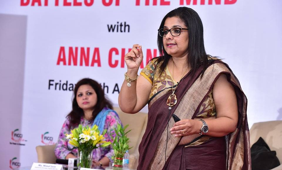 "The Mind Manager: Anna Chandy talked about ""Battle Of Minds"" in a session organized by FICCI FLO Jaipur Chapter"