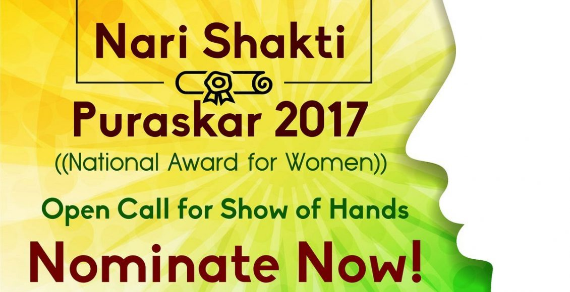 WCD Ministry invites nominations for Nari Shakti Puraskar 2017