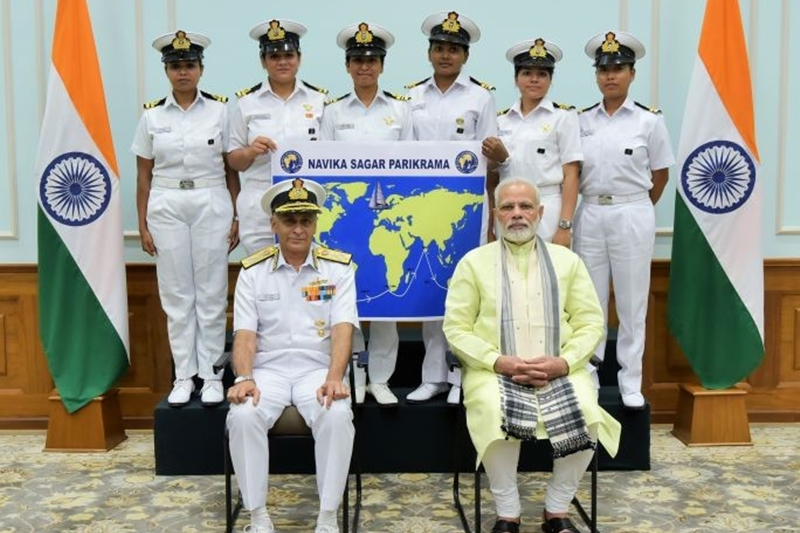 PM wishes the women officers of Navika Sagar Parikrama the very best