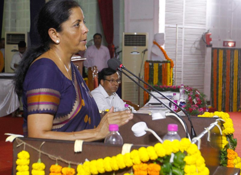 Smt. Nirmala Sitharaman addressing the gathering on Open Defecation Free (ODF) certification