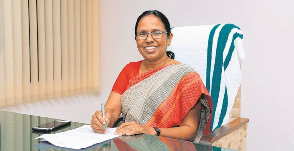 WOMEN WHO WAGED WAR AGAINST VIRUS:  KK SHAILAJA