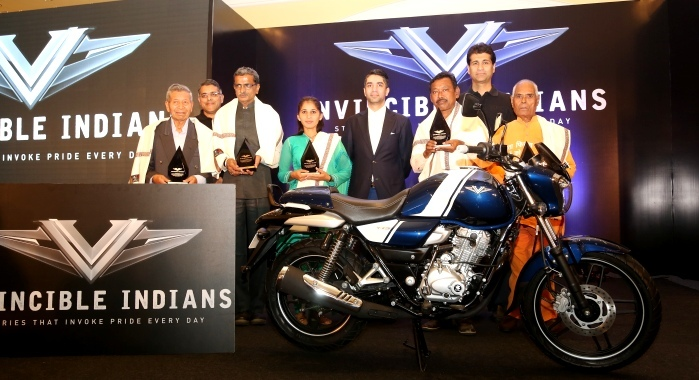 Vijaylakshmi Sharma recognised among the five others for 'Invincible Indians: Stories that Invoke Pride Everyday' the initiative of the Bajaj Auto