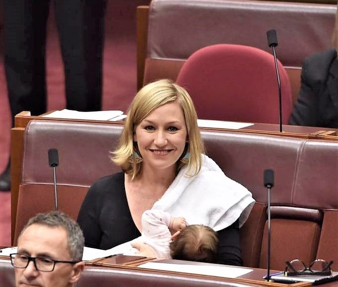 Larissa Waters broke the stereotype and breastfeed her daughter in the federal parliament