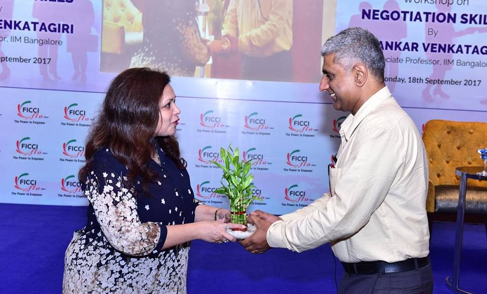 FICCI FLO Jaipur organised a workshop on Negotiation Skills by Shankar Venkatagiri
