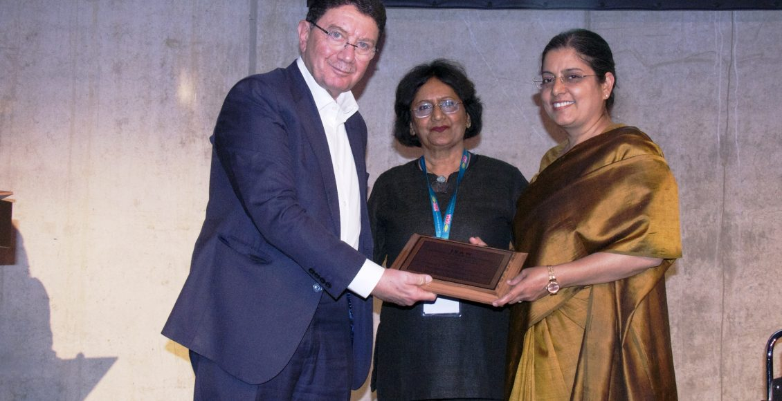 "Ravneet Kaur, CMD, ITDC conferred with 'ISAW Women Achiever Award' for ""Professionalism in Management"" at ITB Berlin"