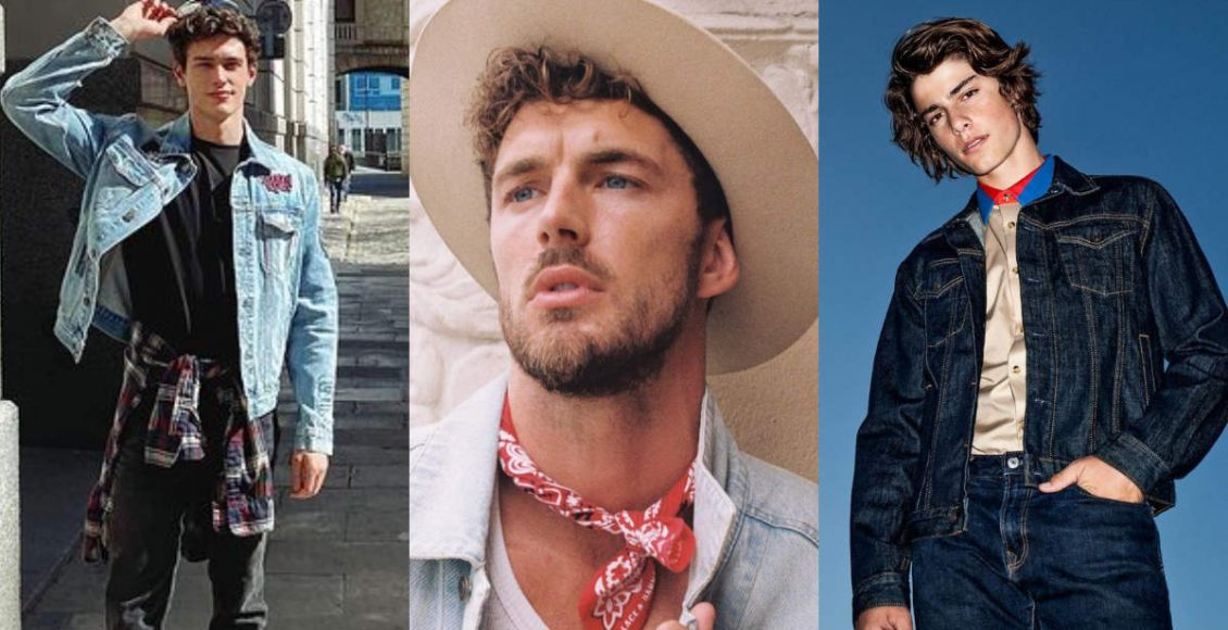 Models show how to style denim jackets